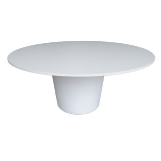 Round Crystal White Conical Table
