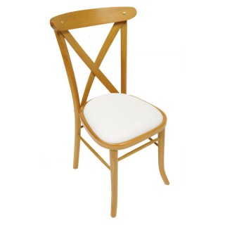Light Oak Cross Back Chair