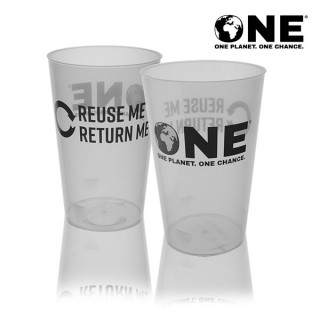 ONE Planet ONE Chance® Polypropylene Reusable Pint To Line (21oz)
