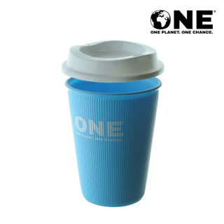 ONE Planet ONE Chance® Polypropylene Reusable Coffee Cup & Sip Lid