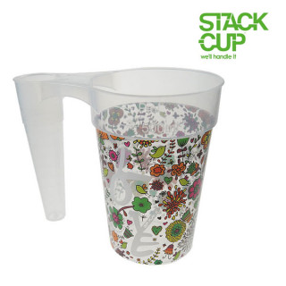 STACK-CUP™ Love Your Festival Polypropylene Reusable Pint To Line (22oz)