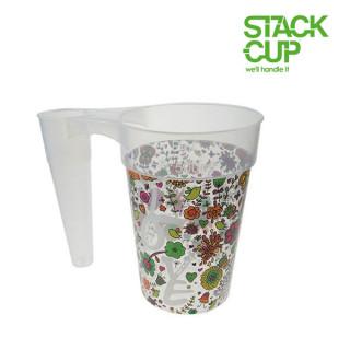 STACK-CUP™ Love Your Festival Polypropylene Reusable Half Pint