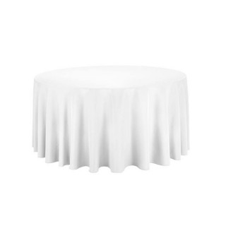 118'' Round White Tablecloth
