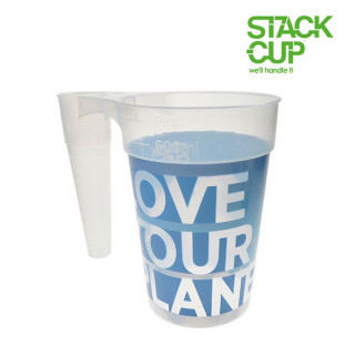 STACK-CUP™ Love Your Planet Polypropylene Reusable Pint To Line (22oz)