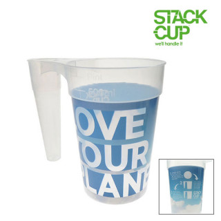 STACK-CUP™ Love Your Planet Polypropylene Reusable Pint + Deposit Scheme