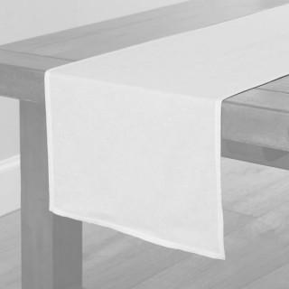 White Fabric Table Runner