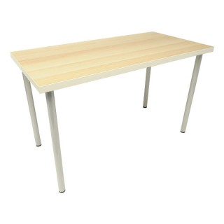 White Edged Light Beech Rectangular Table