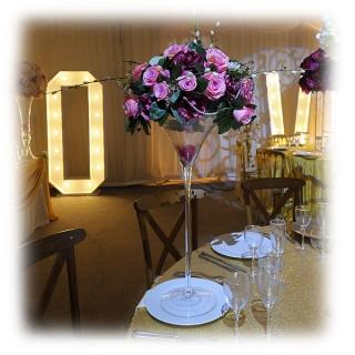 Cocktail Glass Floral Arrangement