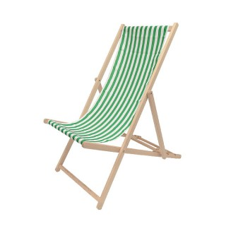 Green & White Deckchair