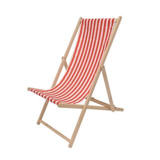 Red & White Deckchair
