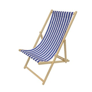 Blue & White Deckchair