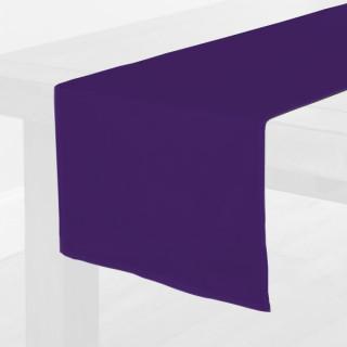 Purple Fabric Table Runner