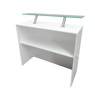 Modular White Back Bar Unit 450 With Perspex Shelf
