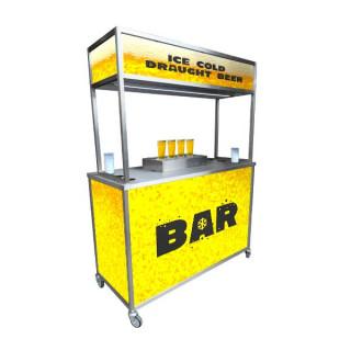 Bottoms Up Mobile Bar Dispenser Unit