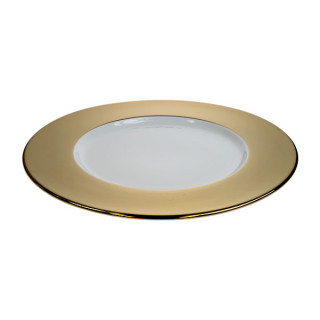 Gold Wide Rim Charger Plate