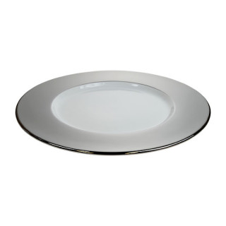 Platinum Wide Rim Charger Plate