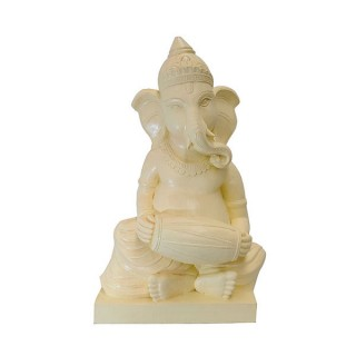 Ganesh With Oval Drum