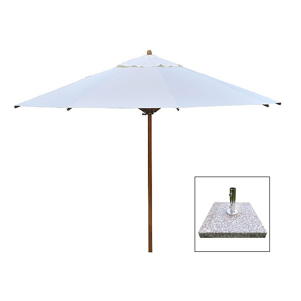 Large 4m Parasol & 70kg Granite Base