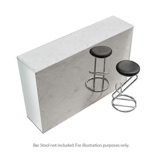 Straight Starlight Mirror Bar Unit White Counter
