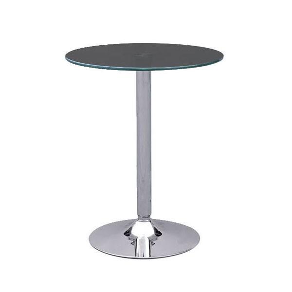 Black Glass Ammon Poseur Table