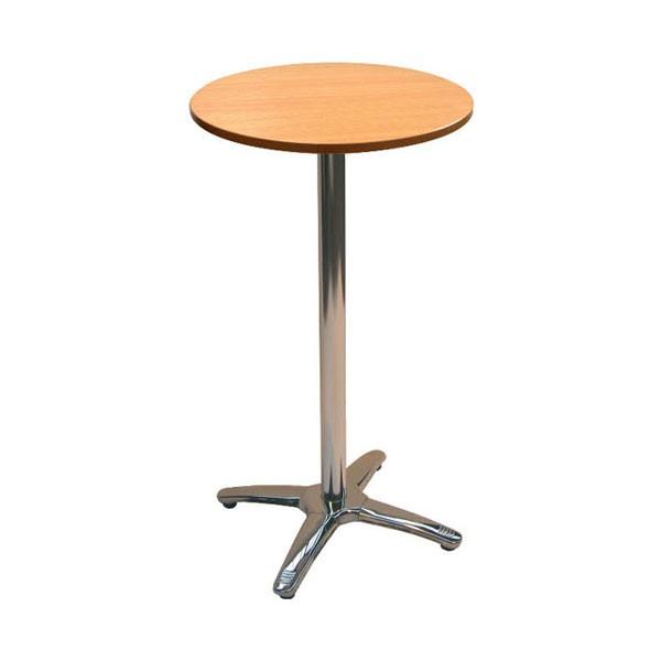 Jem Beech Round Poseur Table