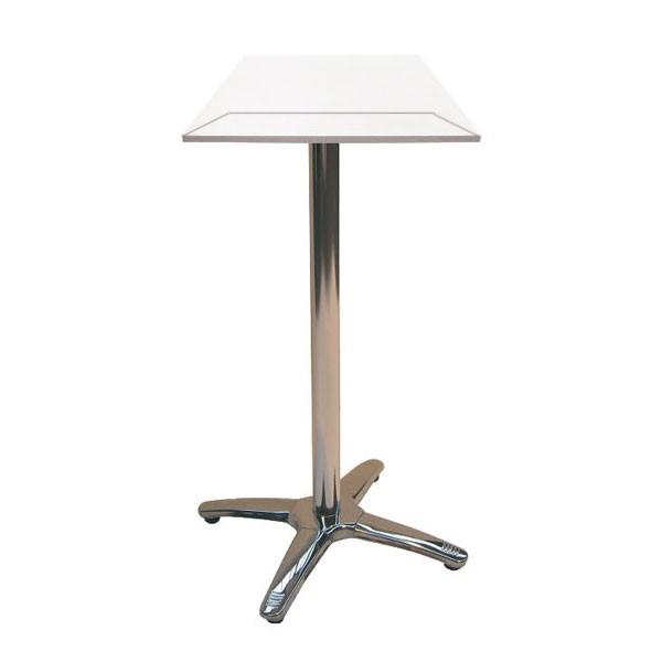Jem Square White Poseur Table