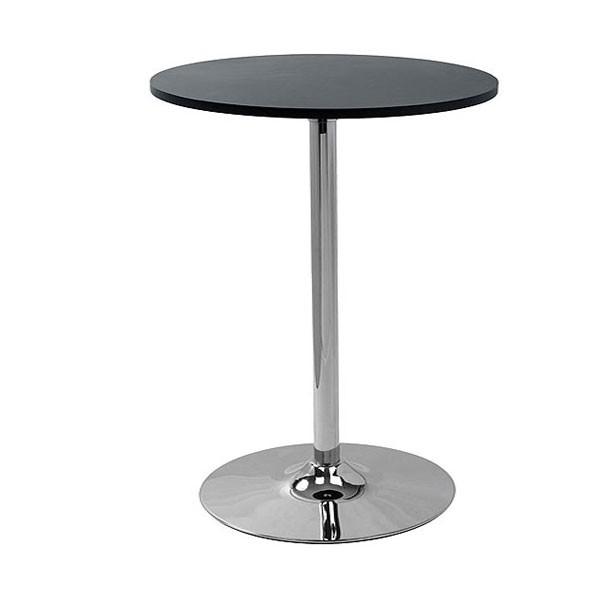 Oro Black Round Poseur Table