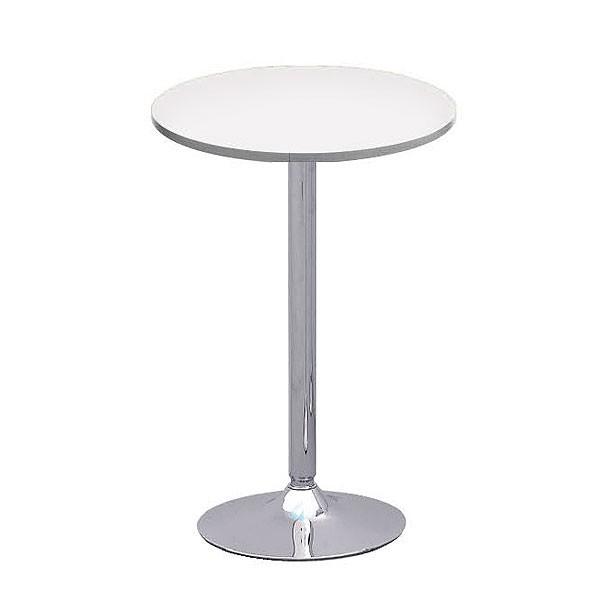 Oro White Round Poseur Table