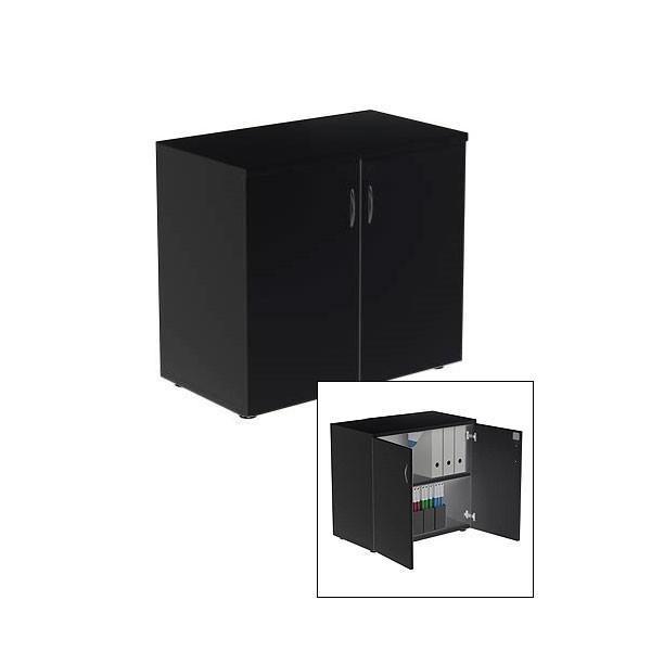 Black Lockable Cupboard