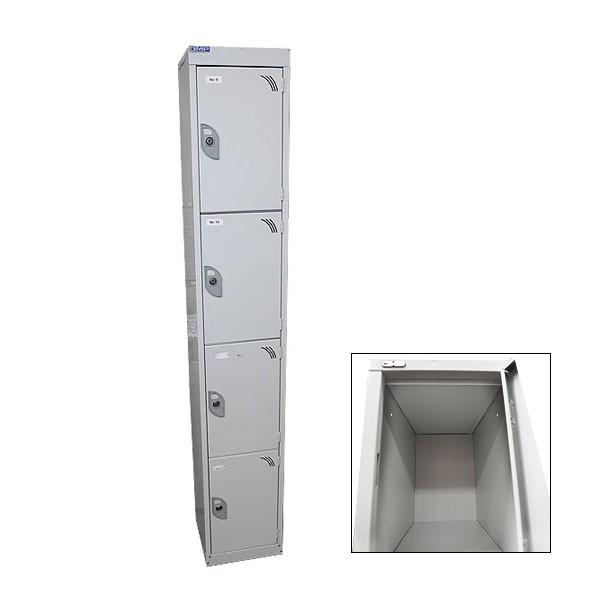 Grey 4 Door Locker