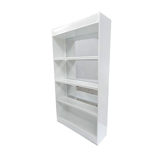 White Mirror Back Bar Unit