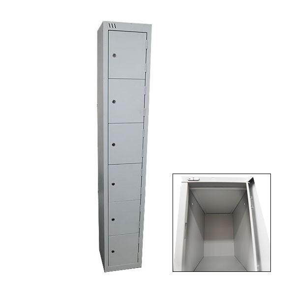 Grey 6 Door Locker