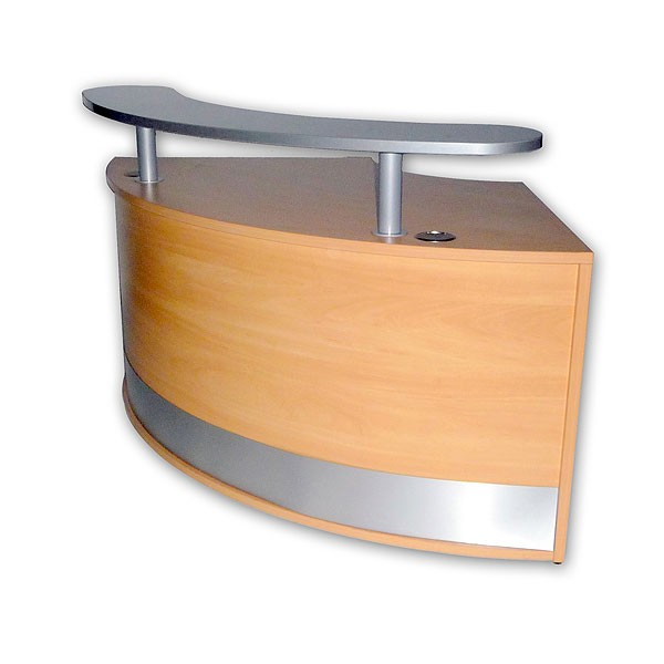 Reception Curved Unit With Shelf