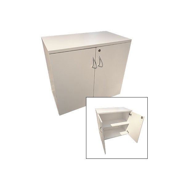 Small White Lockable Cupboard