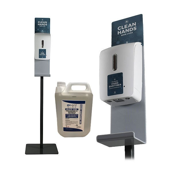 Freestanding Hand Sanitiser Dispenser Grey Stand