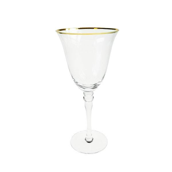 Gold Rim White Wine Glass