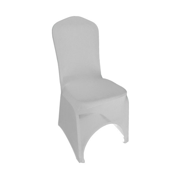 White Stretch Chair Cover High Arch