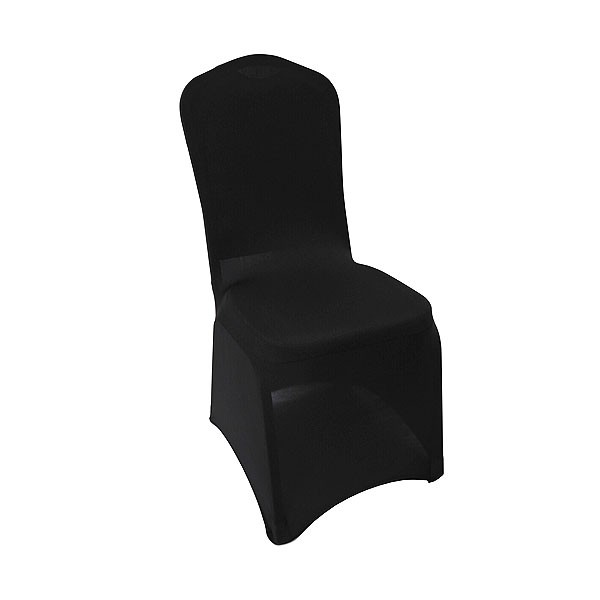 Black Stretch Chair Cover Low Arch
