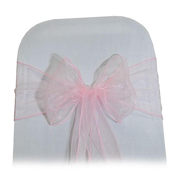 Pink Organza Chair Tie