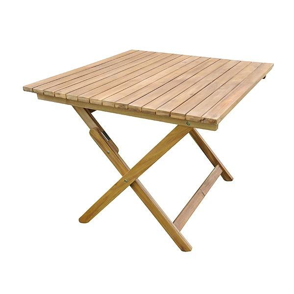 Square Hardwood Table
