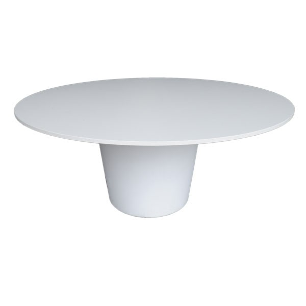 Round Crystal White Table