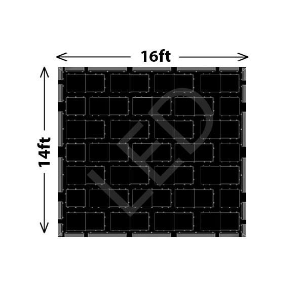 Black LED Dance Floor Set A - 100 Guests