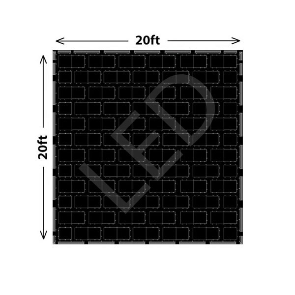 Black LED Dance Floor Set C - 200 Guests