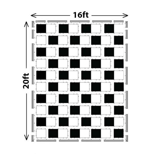 Black & White Dance Floor Set B - 150 Guests