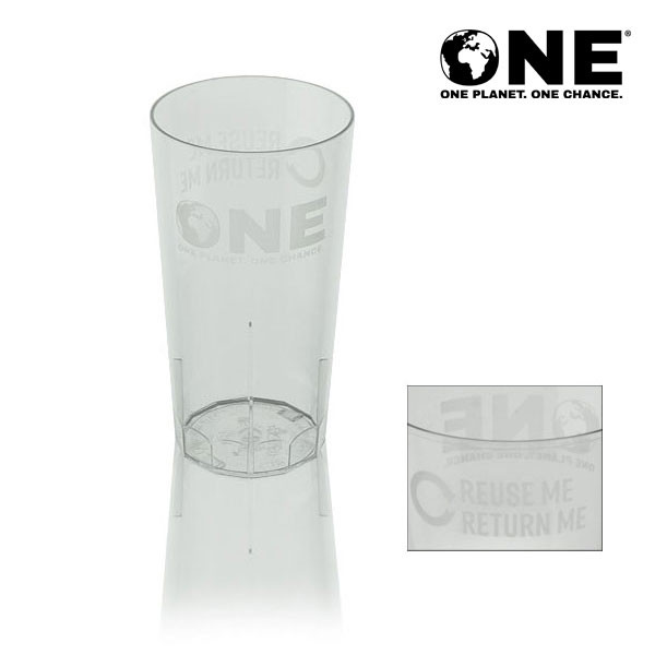 ONE Planet ONE Chance® Polycarbonate Reusable Half Pint To Brim (10oz)