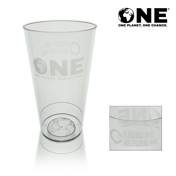ONE Planet ONE Chance® Polycarbonate Reusable Pint To Line (22oz)