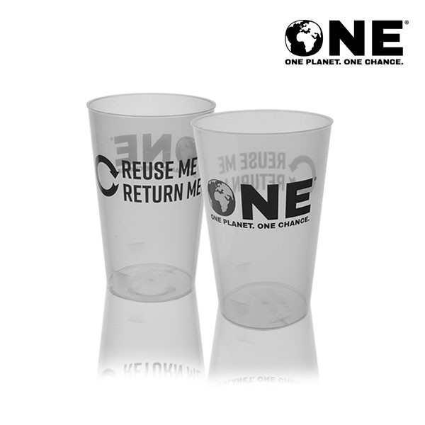 ONE Planet ONE Chance® Polypropylene Reusable Half Pint To Line (11oz)