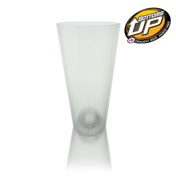 Bottoms Up Polypropylene Reusable Pint To Line (22oz) With Magnet