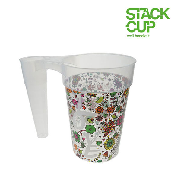 STACK-CUP™ Love Your Festival Polypropylene Reusable Half Pint To Line (12oz)