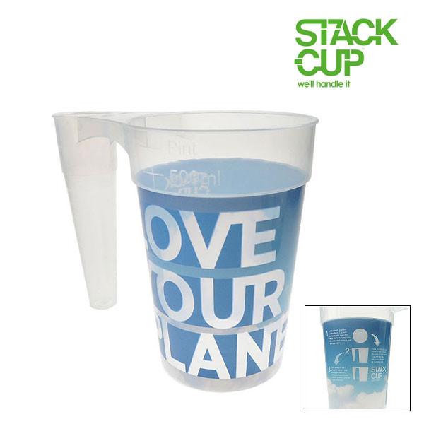 STACK-CUP™ Love Your Planet Polypropylene Reusable Pint To Line (22oz) + Deposit Scheme